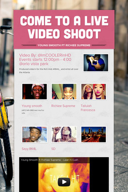 Come to a Live video Shoot