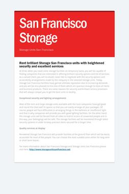 San Francisco Storage