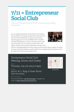 7/11 = Entrepreneur Social Club