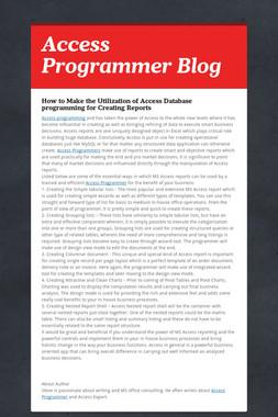 Access Programmer Blog