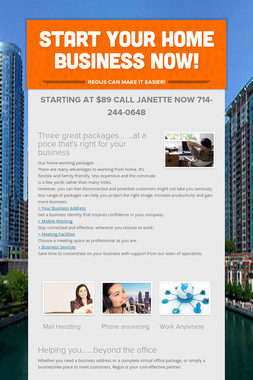 START YOUR HOME BUSINESS NOW!