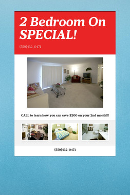 2 Bedroom On SPECIAL!