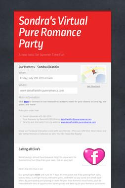 Sondra's Virtual Pure Romance Party