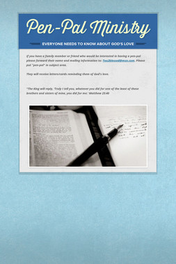Pen-Pal Ministry