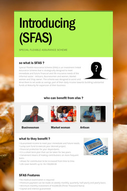 Introducing (SFAS)