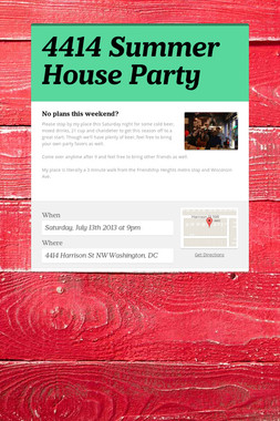 4414 Summer House Party
