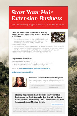 Start Your Hair Extension Business
