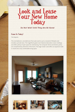 Look and Lease Your New Home Today