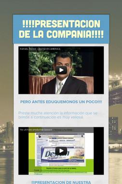!!!!PRESENTACION DE LA COMPANIA!!!!