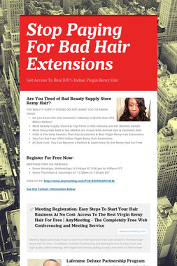 Stop Paying For Bad Hair Extensions