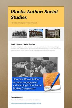 iBooks Author: Social Studies