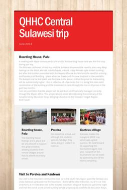 QHHC Central Sulawesi trip