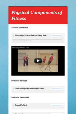 Physical Components of Fitness