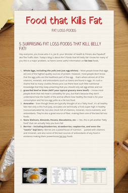 Food that Kills Fat