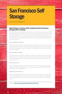 San Francisco Self Storage