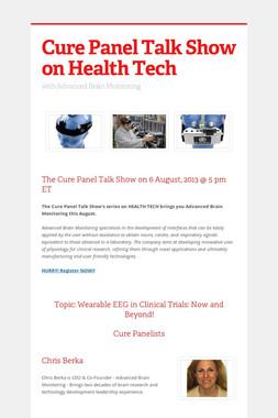 Cure Panel Talk Show on Health Tech