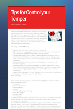 Tips for Control your Temper