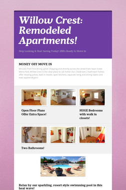 Willow Crest: Remodeled Apartments!
