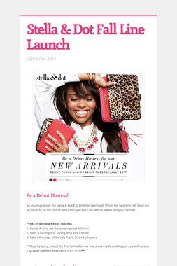 Stella & Dot Fall Line Launch