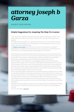 attorney joseph b Garza