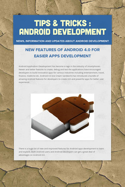 Tips & Tricks : Android Development