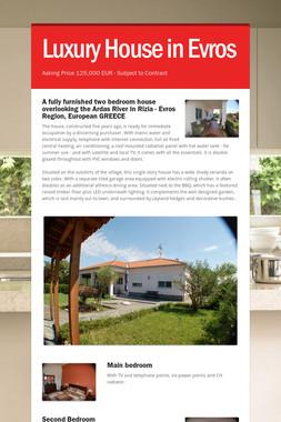 Luxury House in Evros