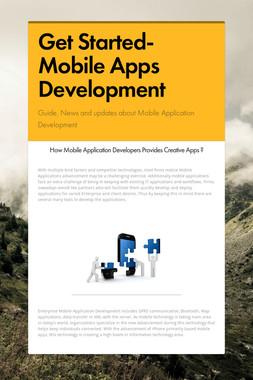 Get Started-Mobile Apps Development