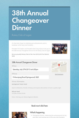 38th Annual Changeover Dinner