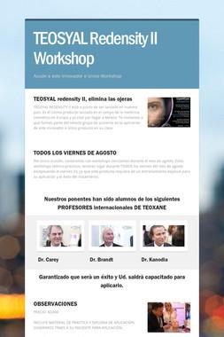 TEOSYAL Redensity II Workshop