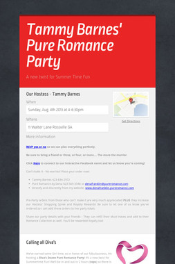 Tammy Barnes' Pure Romance Party