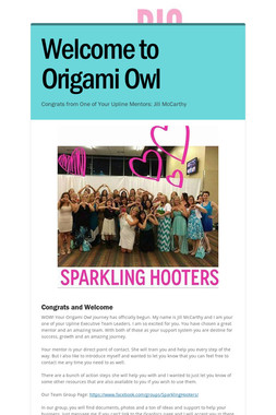 Welcome to Origami Owl