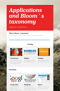 Applications and Bloom ' s taxonomy