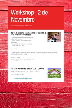 Workshop - 2 de Novembro