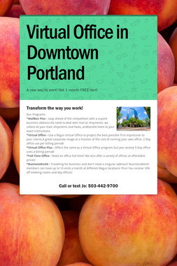 Virtual Office in Downtown Portland
