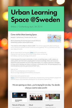 Urban Learning Space @Sweden