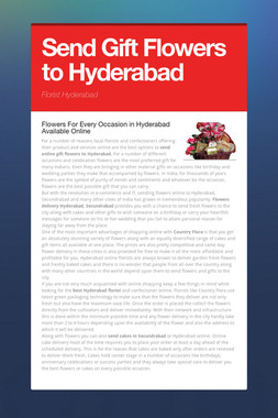 Send Gift Flowers to Hyderabad