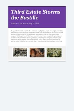 Third Estate Storms the Bastille