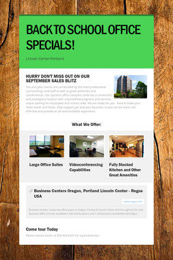 BACK TO SCHOOL OFFICE SPECIALS!