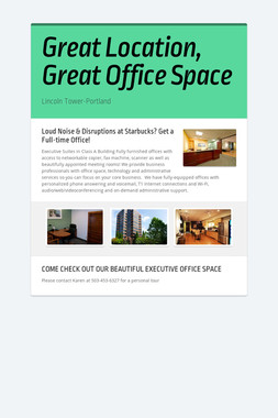 Great Location, Great Office Space