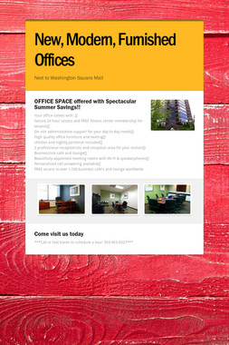 New, Modern, Furnished Offices