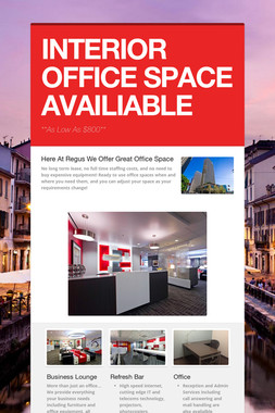 INTERIOR OFFICE SPACE AVAILIABLE
