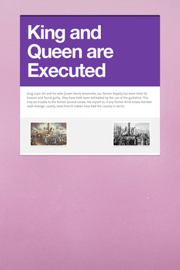 King and Queen are Executed