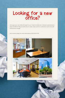 Looking for a new office?