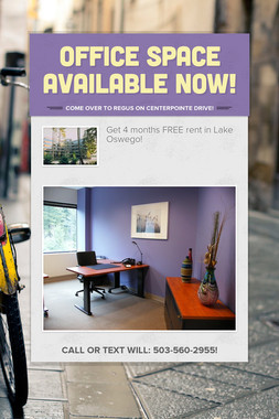 Office space available now!