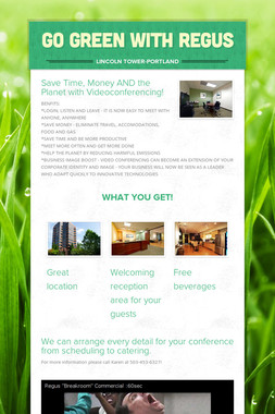 GO GREEN WITH REGUS