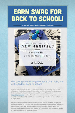 Earn Swag for Back to School!