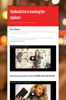 Stella&Dot is looking for stylists!