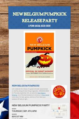 New Belgium Pumpkick Release Party