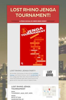 Lost Rhino Jenga Tournament!