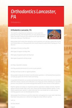 Orthodontics Lancaster, PA